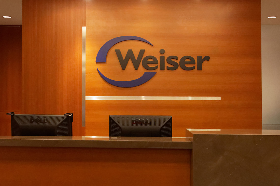 weiser logo sign
